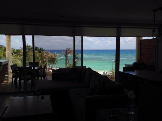 The Elements: beach view from living room