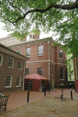 Security tent at the Independence Hall tour & Security tent at the Independence Hall tour - Picture of ...
