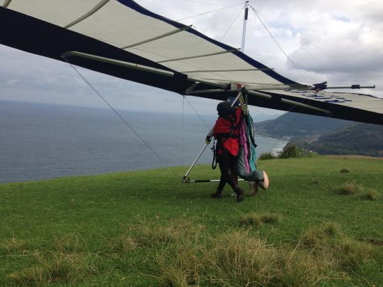 Stanwell Park, أستراليا: All strapped in and ready to take flight
