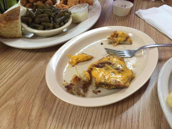 Columbia, MS: Whats left of our delicious potato skins.