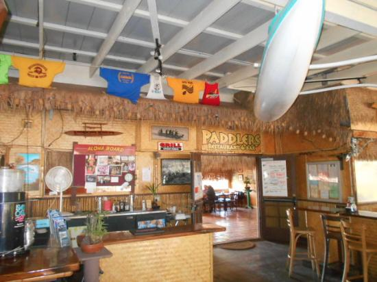 Paddlers Restaurant And Bar On The Inside