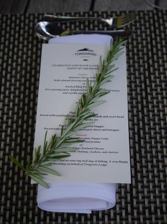 Tongariro Lodge Restaurant: personalized menus