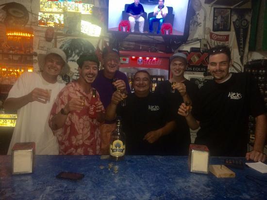 Alex sport bar: Tequila Shots!
