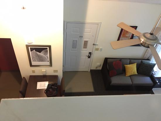 Sonesta Es Suites Portland Vancouver Living Room View From Loft