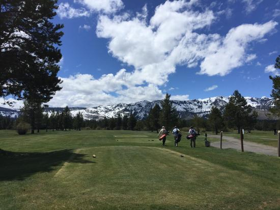 Lake Tahoe Golf Course: First tee . . .Par 5 - 511 yards from black tees