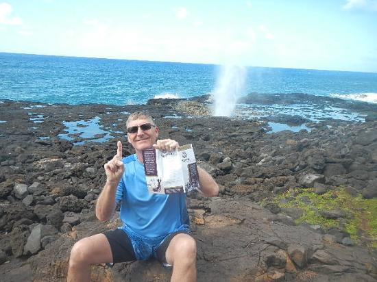 Koloa Heritage Trail: Site number one, Spouting Horn!