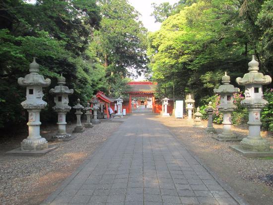 Ikisu Shrine: 息栖神社 境内の参道