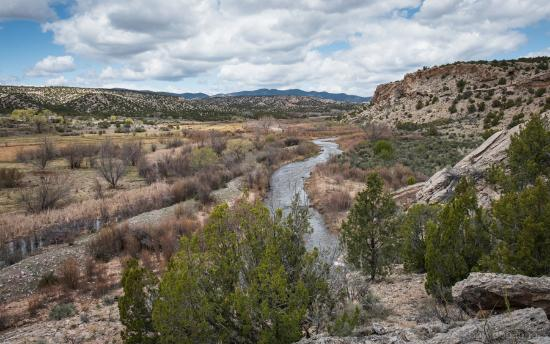 Ojo Caliente New Mexico Map.The Rio Ojo Caliente Runs Through The Middle Of The Ranch This View