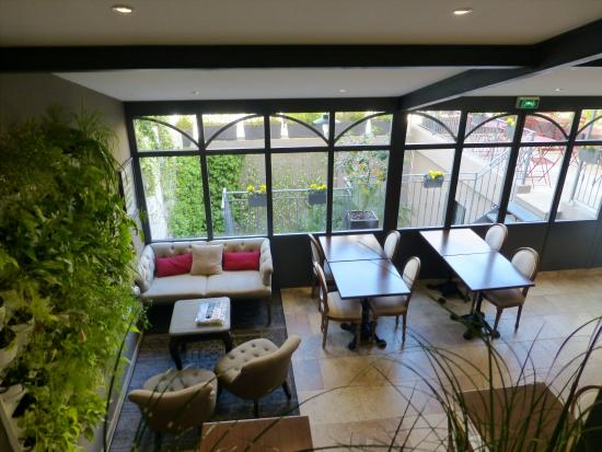 Hôtel Pruly: salle petit déjeuner