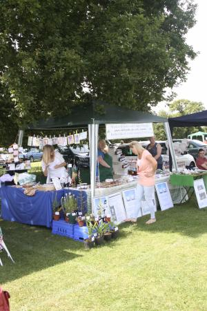 Wythall & Hollywood Country Market stall at the annual Wythall Carnival