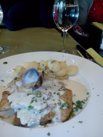 Oudenaarde, Bélgica: Het hoofdgerecht bij een lunchmenu aan € 15,00. Hierbij krijg je ook nog een verse soep én een l