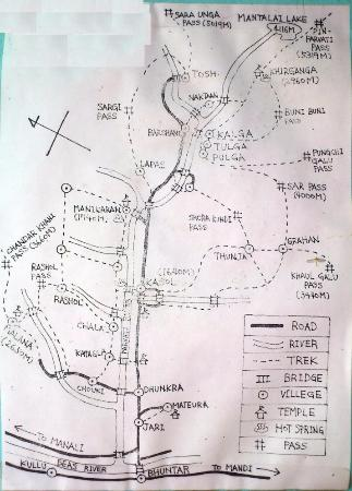 Manikaran, Indie: route map