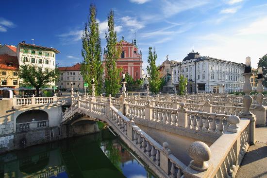 Slowenien:  Ljubljana Triple Bridge