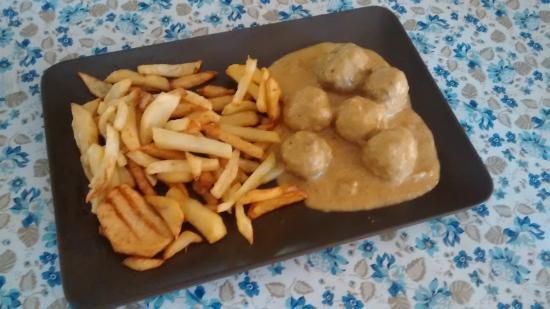 Alcaucin, Испания: Albóndigas en salsa de mostaza y miel del Parque Natural