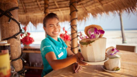 Laem Set, Thailand: Enjoy your favourite cocktail with a smile at our Beach Bar