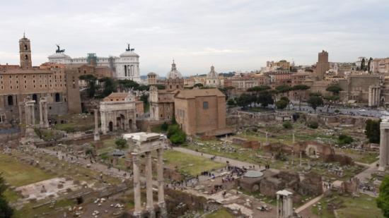 Rome Tours - Private tours of Rome: View of Forum Romanum from Palatine Hill