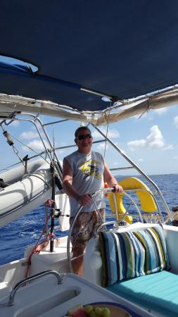 Kralendijk, Bonaire: My beautiful husband