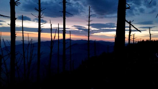 Sunrise at Myrtle Point . . . just a short hike from the LeConte Lodge.