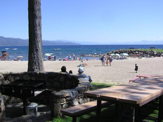 Burnt Cedar Beach Park, resident and guest park facility, Incline Village Lake Tahoe