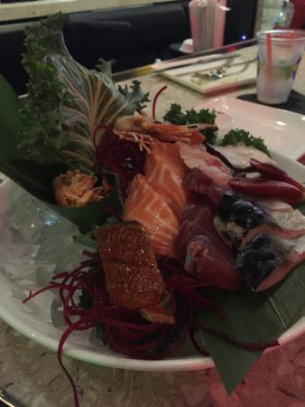 Huge pieces of Sashimi