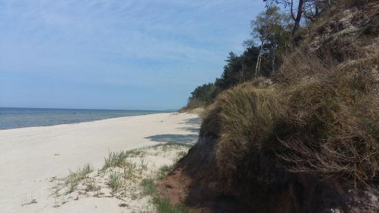 Miedzywodzie, Polen: Szeroka plaża