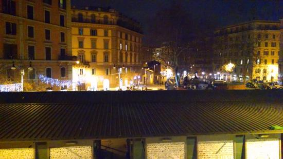 Hotel Trastevere: this was the nighttime view from our room. We were on the back on the hotel.