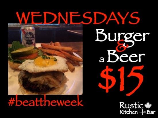 Medicine Hat, Kanada: Wednesday Burger and a Beer for $15