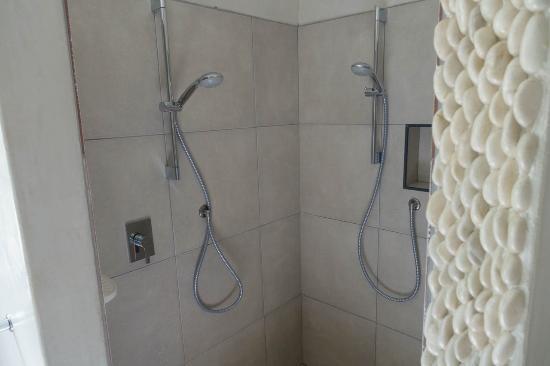 Swakopmund Guesthouse: dettaglio del bagno: la doppia doccia!