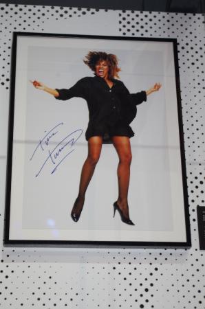 Roskilde, Denmark: Tina Turners autograf.