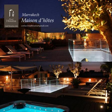 la terrasse et jacuzzi de nuit picture of riad houma marrakech tripadvisor. Black Bedroom Furniture Sets. Home Design Ideas