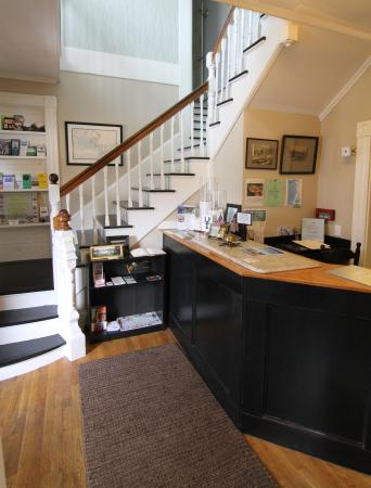 Front desk at the Woods Hole Inn.