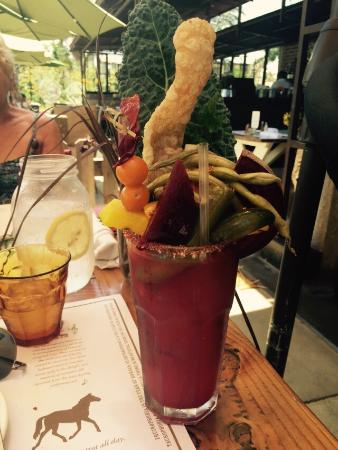 The Bloody Mary here is a salad in itself!