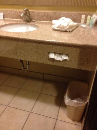 Comfort Suites Airport South: Extra touches, such as folded towel with washcloth. Nice.
