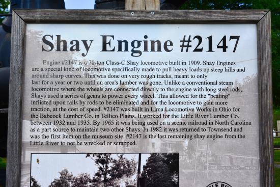 ทาวน์เซนด์, เทนเนสซี: Description of the Shay Engine