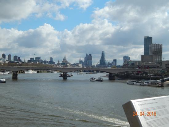 View Of Waterloo Bridge And Beyond From Hungerford Bridge