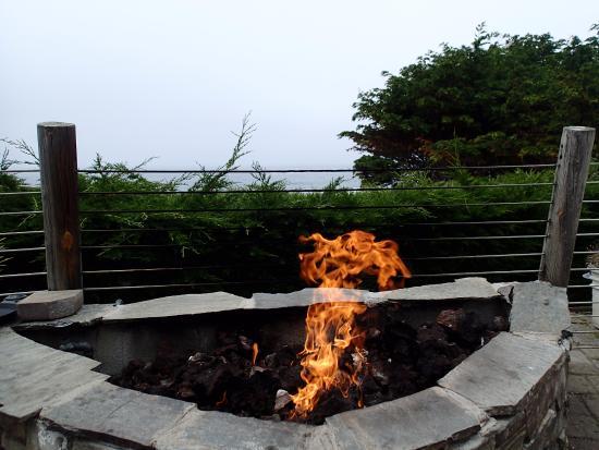 Moss Beach, Kaliforniya: Fire pit