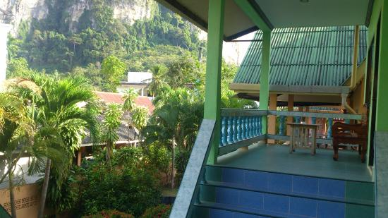 Machorat Aonang Resort: view of mountain from bungalow