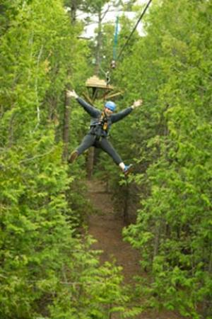 Egg Harbor, วิสคอนซิน: Zip Line Canopy Package