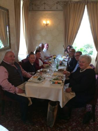 Sykeside Country House Hotel: Our family celebrating with a wonderful meal.