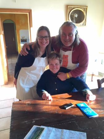 Il Vicario: Picture Franca, Fulvio, and my fiance Emily