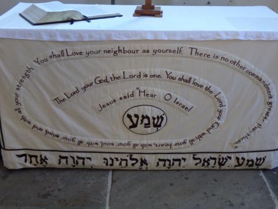 Hebrew Bible inscription - Picture of All Saints Church