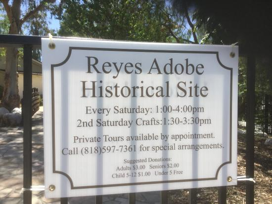 ‪The Reyes Adobe Historic Site‬