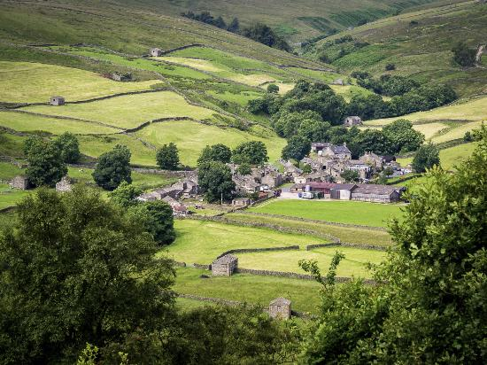 Yorkshire Dales National Park, UK: A view of Thwaite from the Pennine Way