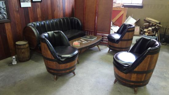 Barrel House Distillery: Repurposed Barrel Furniture On Site Was Too Cool!