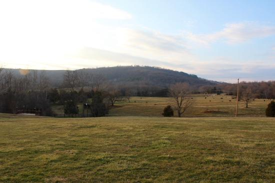 Charlottesville, Wirginia: View from the parking lot.