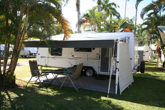 Mission Beach Hideaway Holiday Village: Caravan on site