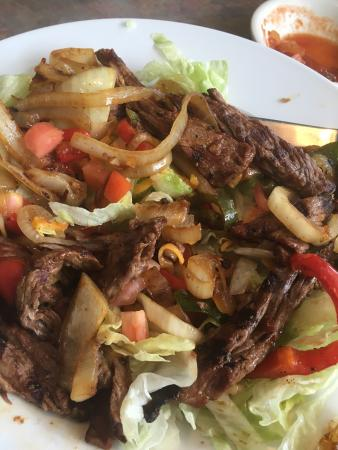 Framingham, MA: Fajita salad with steak. Very dry and plain. Disappointed.