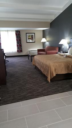 Quality Inn & Suites: Newly Renovated King Suite with Pull out Sofa.