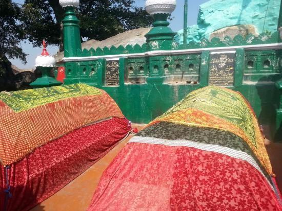 Krishnagiri, India: dargah atop the hill
