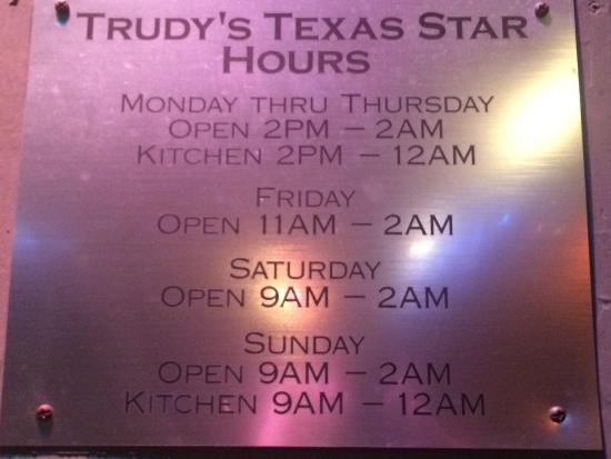 Trudy's Texas Star Restaurant & Bar - Picture of Trudy's